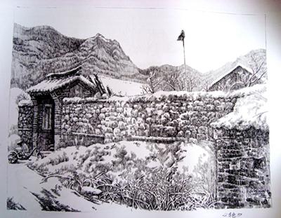鋼筆畫論壇;; 夢想中的房子簡筆畫;